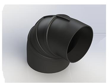Black EPDM 90° Reducer Elbow Hoses